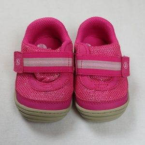 Stride-Rite Baby 3 Medium Jessie Pink Glitter Girl